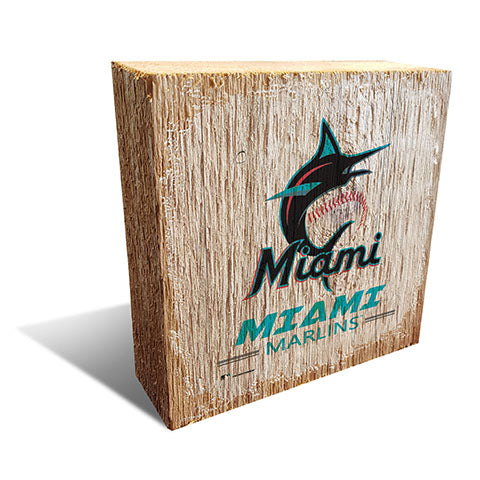Miami Marlins Team Logo Block 6X6