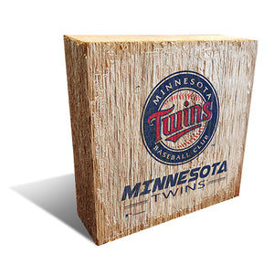 Minnesota Twins  Team Logo Block 6X6