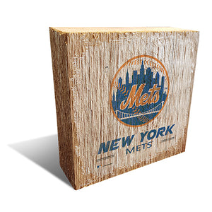 New York Mets Team Logo Block 6X6