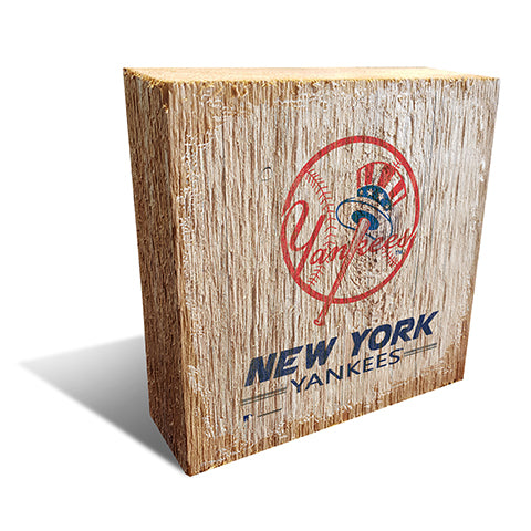 New York Yankees Team Logo Block 6X6