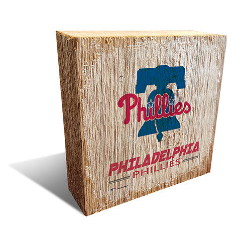 Philadelphia Phillies Team Logo Block 6X6