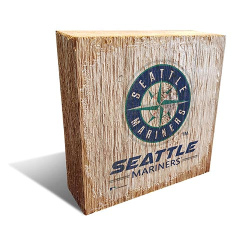 Seattle Mariners Team Logo Block 6X6