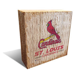 Saint (St.) Louis Cardinals Team Logo Block 6X6