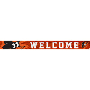 Baltimore Orioles 16in. Welcome Strip