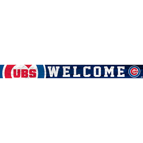 Chicago Cubs 16in. Welcome Strip