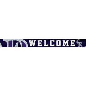 Colorado Rockies 16in. Welcome Strip