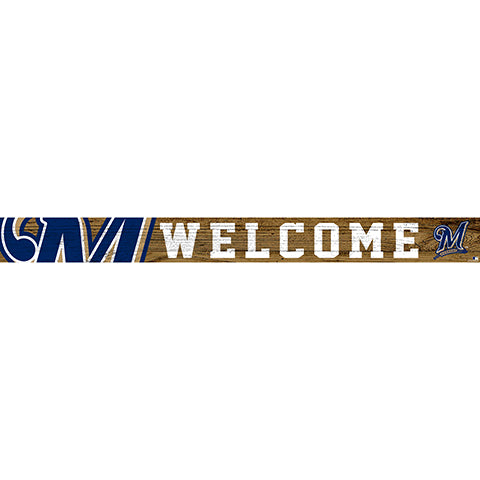 Milwaukee Brewers 16in. Welcome Strip
