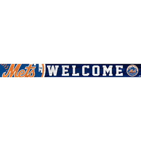 New York Mets 16in. Welcome Strip