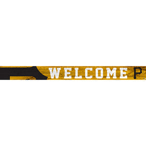 Pittsburgh Pirates 16in. Welcome Strip