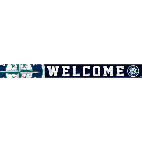 Seattle Mariners 16in. Welcome Strip