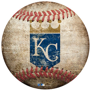 "Kansas City Royals 12"" Baseball Shaped Sign"