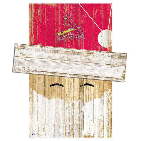 Saint (St.) Louis Cardinals Santa Head