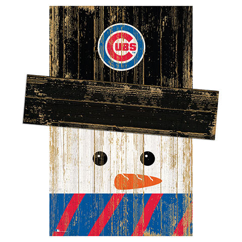Chicago Cubs Snowman Head