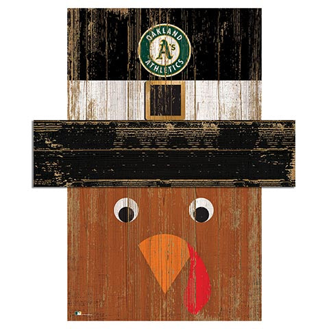 Oakland Athletics Turkey Head