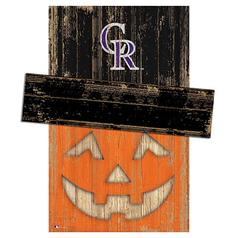 Colorado Rockies Pumpkin Head w/Hat