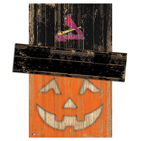 Saint (St.) Louis Cardinals Pumpkin Head w/Hat
