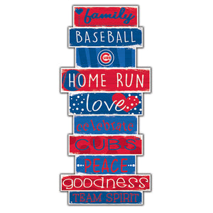 "Chicago Cubs Celebrations Stack 24"" Sign"