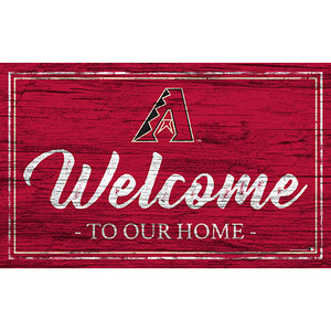 Arizona Diamondbacks Team Color Welcome 11x19 Sign