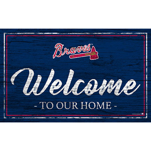 Atlanta Braves Team Color Welcome 11x19 Sign