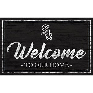 Chicago White Sox Team Color Welcome 11x19 Sign
