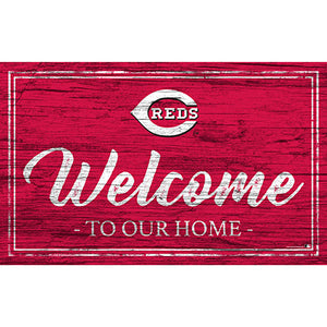 Cincinnati Reds Team Color Welcome 11x19 Sign