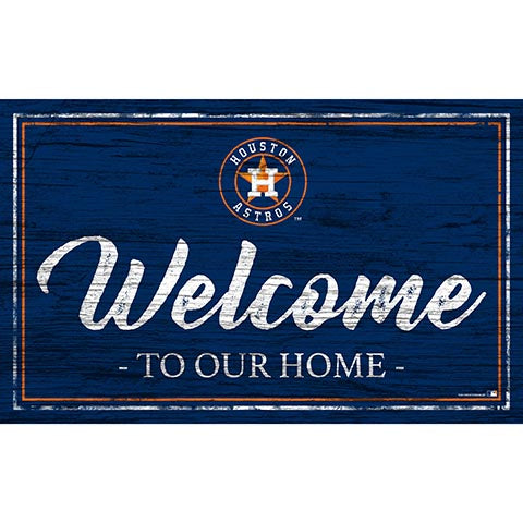 Houston Astros Team Color Welcome 11x19 Sign