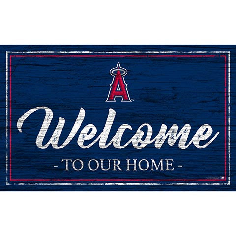 Los Angeles AngelsTeam Color Welcome 11x19 Sign