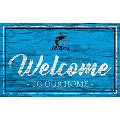 Miami Marlins Team Color Welcome 11x19 Sign