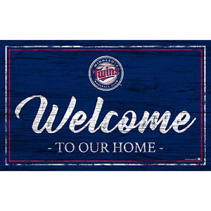 Minnesota Twins Team Color Welcome 11x19 Sign