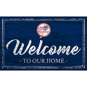 New York Yankees Team Color Welcome 11x19 Sign
