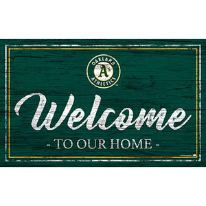 Oakland Athletics Team Color Welcome 11x19 Sign
