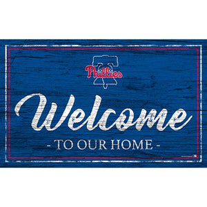 Philadelphia Phillies Team Color Welcome 11x19 Sign