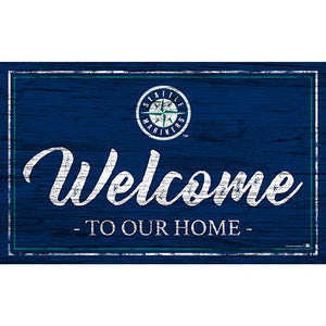 Seattle Mariners Team Color Welcome 11x19 Sign