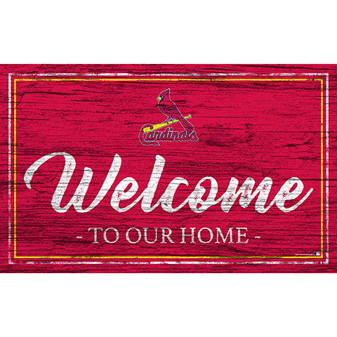 St. Louis Cardinals Team Color Welcome 11x19 Sign