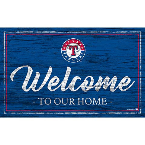 Texas Rangers Team Color Welcome 11x19 Sign