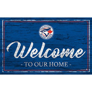 Toronto Blue Jays Team Color Welcome 11x19 Sign