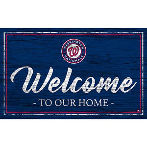 Washington Nationals Team Color Welcome 11x19 Sign