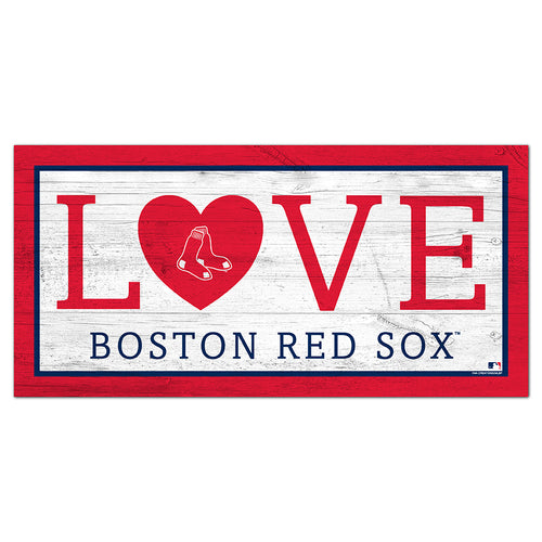 Boston Red Sox Love 6x12 Sign