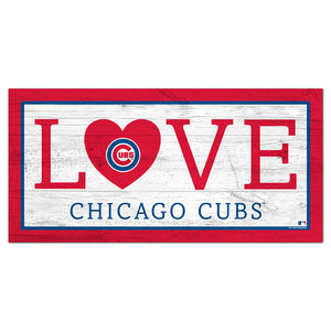 Chicago Cubs Love 6x12 Sign