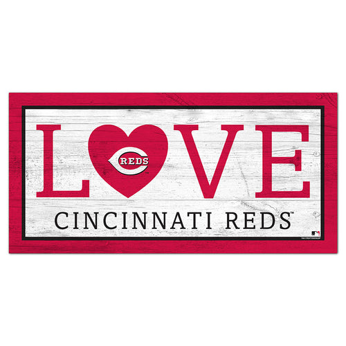 Cincinnati Reds Love 6x12 Sign