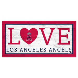 Los Angeles Angels Love 6x12 Sign