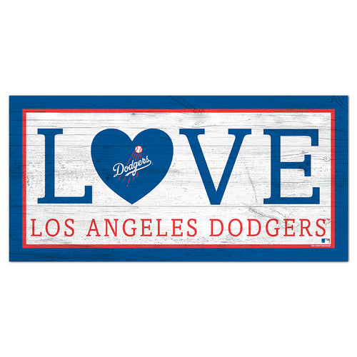 Los Angeles Dodgers Love 6x12 Sign