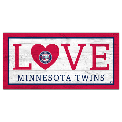 Minnesota Twins Love 6x12 Sign