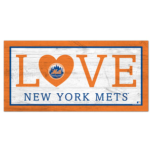 New York Mets Love 6x12 Sign
