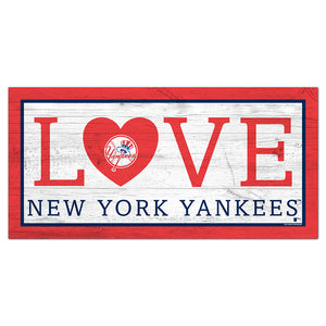 New York Yankees Love 6x12 Sign