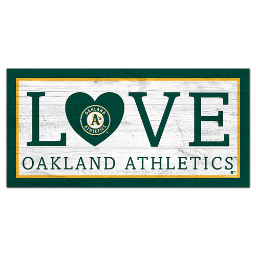 Oakland Athletics Love 6x12 Sign