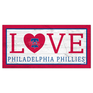 Philadelphia Phillies Love 6x12 Sign