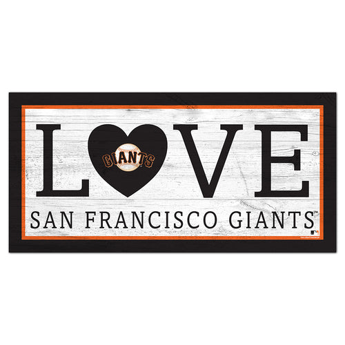 San Francisco Giants Love 6x12 Sign