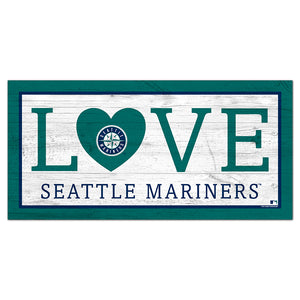 Seattle Mariners Love 6x12 Sign