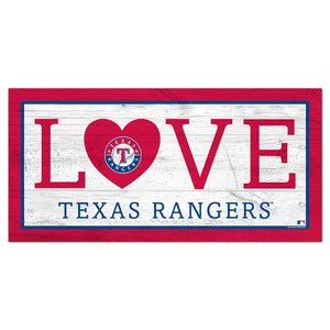 Texas Rangers Love 6x12 Sign